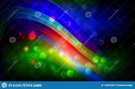 Broken Light Effect Abstract Color Wave Background Vector Broken Effect