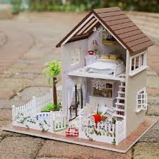 mini doll house furniture. diy 3d wooden doll house furniture wood dolls light dollhouse miniature toy gifts houses toys mini o