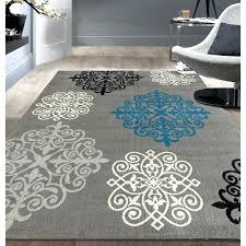 6x9 grey area rug modern geometric damask design grey area rug