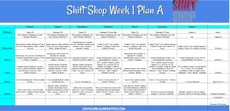 Shift Plan Week 1 Shift Shop Meal Plan Melanie Mitro