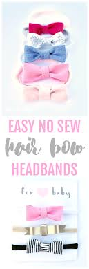 easy no sew hair bow head bands tutorial make adorable newborn bow headbands for your