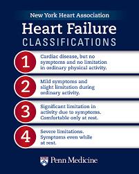 Nyha Classification Chart Heart Failure Classification Stages Of Heart Failure And