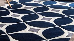 home and furniture gorgeous navy blue area rug at wrought studio roush handmade gray reviews