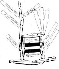diagram of how to make a clothes pin rocking chair