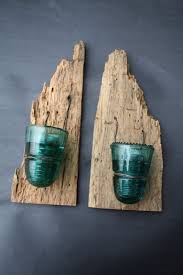 5 driftwood has been used for these special twin candles