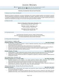 School Teacher Resume Examples Elementary School Teacher Elementary ...