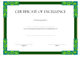 Certificate Of Excellence Template Word Certificate of Excellence 1000 SS Best 100 Templates 12