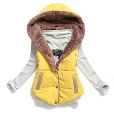Cheap Quilted Vest Women, find Quilted Vest Women deals on line at ... & Plus Size XXXL Quilted Vest Autumn Winter Slim Thermal Cotton Hooded Colete  Feminino Casual Duck Down Adamdwight.com
