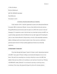 Reflection Essay Samples Template Business