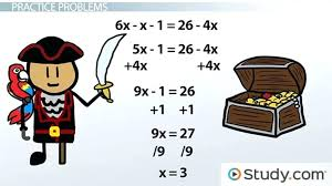 solving equations with one variable math solving linear equations practice problems lesson transcript solving linear
