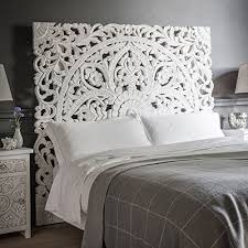 Artistic Boho Bed Frame At Amazon Com Carved Wood Headboard Handmade ...