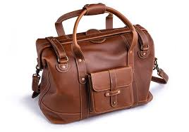 gladstone leather duffle bag
