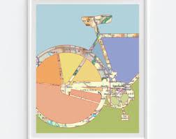 spokane etsy Gonzaga Map Spokane spokane washington bicycle vintage map art print, bicycle bike biking cycling art, gift for gonzaga campus map spokane