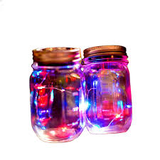 multi color outdoor solar jar design. 1 pcs creative solar mason jar cover fairy light with led for glass jars party garden wedding decorations multi color outdoor design d