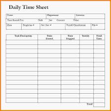 Daily Timesheet Template Templates Data