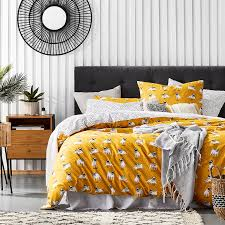 home republic percy pug mustard quilt cover set