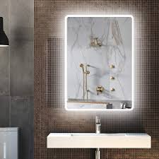 Wall Mirror With Lights Amazon Com Lighted Bathroom Mirror Backlit Led Anti Fog