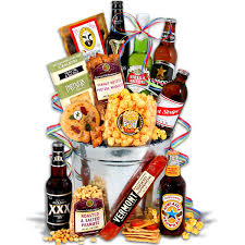 around the world beer bucket 6 beers a gift basket for him i could emble myself