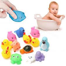 13Pcs/<b>Set Cute Soft</b> Rubber Float Squeeze Sound Dabbling Toys ...