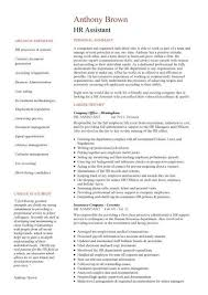 Human Resources Assistant Resume Examples Unique HR Assistant CV Template Job Description Sample Candidates Human