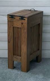 rustic garbage can wood trash can wood trash bin kitchen garbage can wood trash can rustic