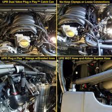 14-17 GM Chevrolet GMC Trucks 5.3L Dual Valve Catch Can CSS Plug N ...