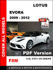 lotus evora owners manuals repair manuals service manuals lotus evora 2009 2010 2011 2012 factory oem service repair workshop fsm manual picture