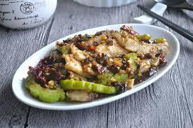 fish fillets with bittergourd in black bean sauce 黑豆豉苦瓜鱼