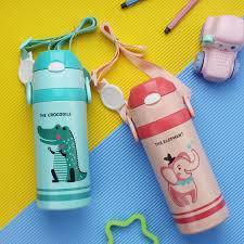 500ML Cho Bé Cách Nhiệt Bình Giữ Nhiệt Cốc Nước Ăn Có Ống Hút Trẻ Em Học Ấm  Siêu Tốc Inox Nhiệt Cup|Bottles