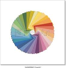 It's done in black and white, with plenty of space for your artists to. Free Art Print Of Color Wheel Paint Samples In Color Wheel Formation Isolated On White Background Freeart Fa26595041