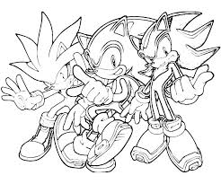 Small Picture Sonic The Hedgehog Coloring Pages Activities for kids