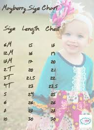 Girls Clothing Chart Size Chart For Mayberry Dress Loads At 8 Pm Cst