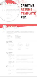 Free Resume Templates Template Minimal Psd Design Throughout 93