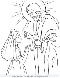 Catholic Coloring Pages For Kids First Communion Boy Coloring Pages