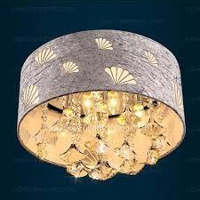 drum fabric shade semi flush ceiling light 18 1