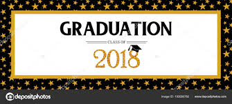 Class Party Invitation Graduation Class Of 2018 Greeting Banner Template Vector Party
