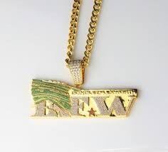 fashion jewelry custom necklace designs hip hop jewelry gold logo pendant necklace