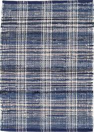 dash and albert denim plaid cotton woven rug for cottage bungalow