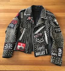 front of my metal crust jacket 1000 studs and a handful of spikes for good measure