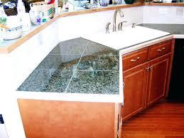 tile countertop edge ceramic options trim granite pieces
