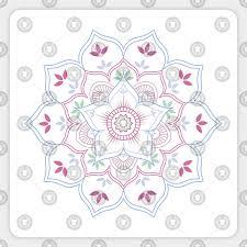 Lotus Flower Mandala In Soft Pastel Colors