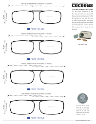 Glasses Size Chart Rectangle Clip Ons