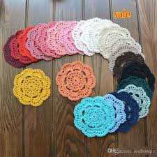 2018 whole new 10cm round table mat crochet coasters doilies cup pad props for lampshade from aozhouqie 38 96 dhgate com