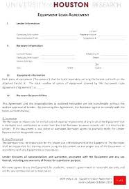 Cash Loan Agreement Sample Adorable Equipment Loan Form Template Finance Agreement Sample Employee It