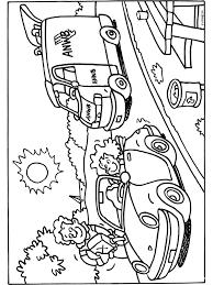 Kleurplaat Pech Onderweg Onderweg Kleurplaten Vervoer