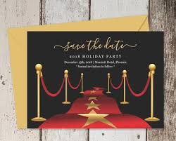 Red Carpet Save The Date Card Template Printable Hollywood Theme Party Save The Date Invitation Birthday Retirement Grand Opening Event