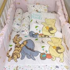 disney classic pooh 5 in 1 bedding set c w comforter fitted crib sheet pillow and bolster cpst 205
