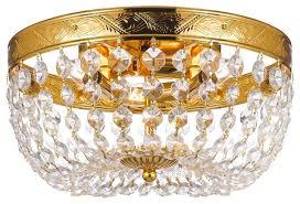 french empire crystal flush chandelier
