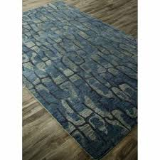 rugs hand tufted abstract pattern blue wool area rug 8x10