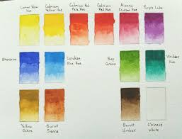 Winsor And Newton Cotman Color Chart